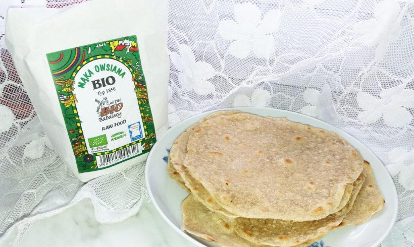 Domowe wraps'y / tortille  z dodatkiem mąki owsianej BIO