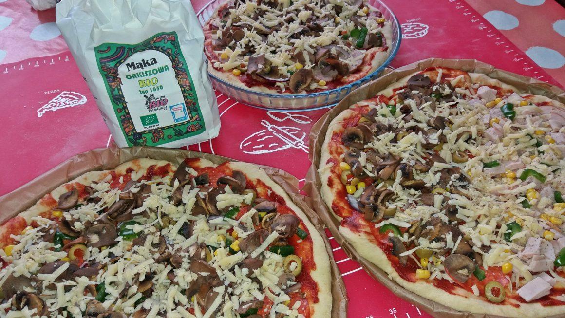 Pizza na mące Orkiszowej BIO z dodatkiem mąki pszennej i mąki z Amarantusa